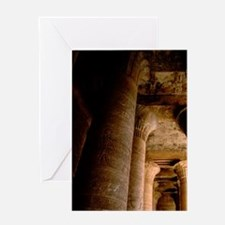 12 Giant hieroglyphic covered column Greeting Card