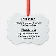 Rule Aeronautical Engineer Ornament