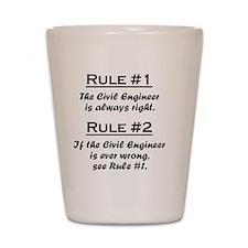 Rule Civil Engineer Shot Glass