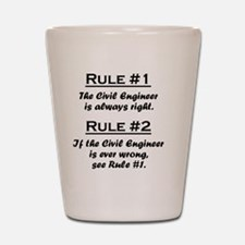 Rule Civil Engineer Shot Glass