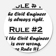Rule Civil Engineer Round Car Magnet