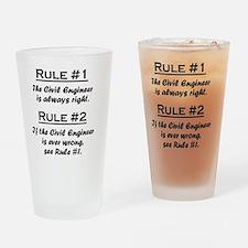 Rule Civil Engineer Drinking Glass