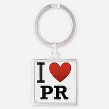 I-Love-Puerto-Rico Square Keychain