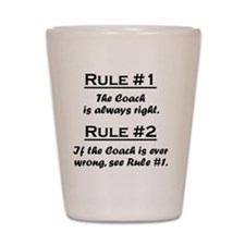 Rule Coach Shot Glass