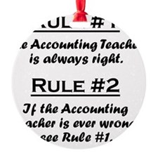 Rule Accounting Teacher Ornament