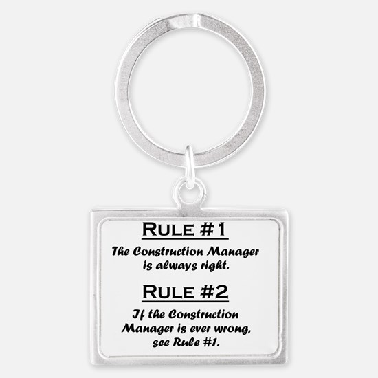 Rule Construction Manager Landscape Keychain