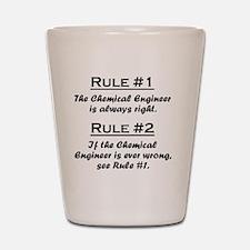 Rule Chemical Engineer Shot Glass