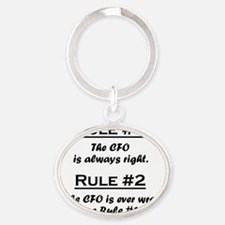 Rule CFO Oval Keychain