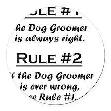 Rule Dog Groomer Round Car Magnet