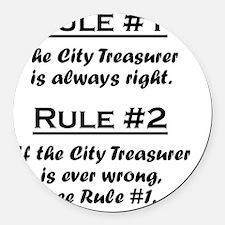 Rule City Treasurer Round Car Magnet