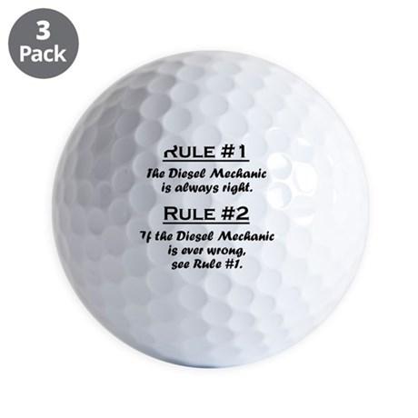Rule Diesel Mechanic Golf Balls