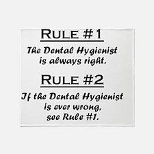 Rule Dental Hygienist Throw Blanket