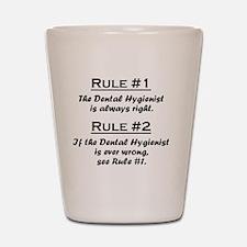 Rule Dental Hygienist Shot Glass