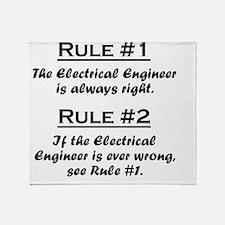 Rule Electrical Engineer Throw Blanket