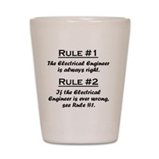 Rule Electrical Engineer Shot Glass
