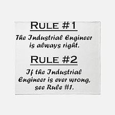 Rule Industrial Engineer Throw Blanket