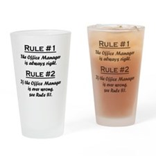 Rule Office Manager Drinking Glass