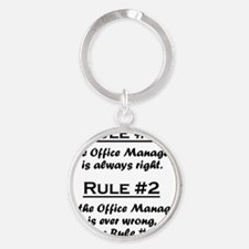 Rule Office Manager Round Keychain