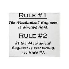 Rule Mechanical Engineer Throw Blanket