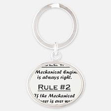 Rule Mechanical Engineer Oval Keychain