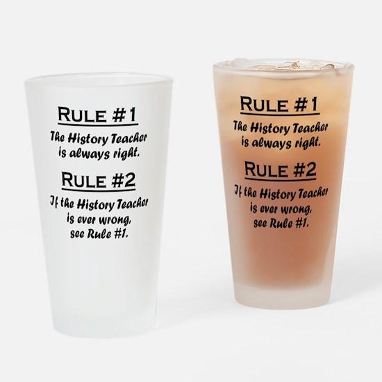 Rule History Teacher Drinking Glass