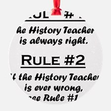 Rule History Teacher Ornament