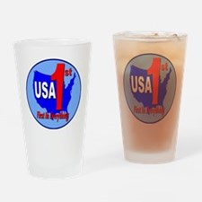 usa_1st_in_everything_circle_logo_t Drinking Glass