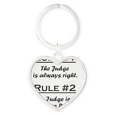 Rule Judge Heart Keychain