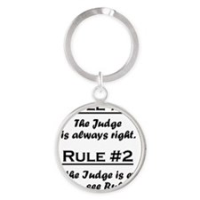 Rule Judge Round Keychain