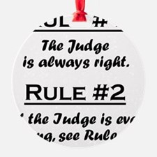 Rule Judge Ornament