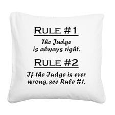 Rule Judge Square Canvas Pillow