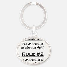 Rule Machinist Oval Keychain