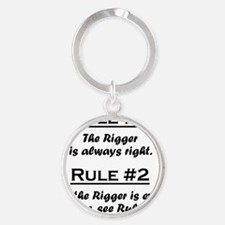 Rule Rigger Round Keychain