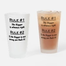 Rule Rigger Drinking Glass