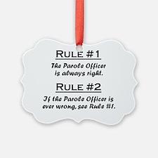 Rule Parole Officer Ornament