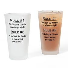 Rule Tech Ed Teacher Drinking Glass