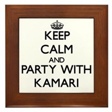 Keep Calm and Party with Kamari Framed Tile
