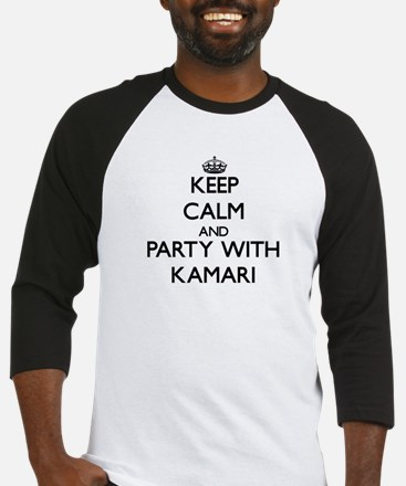 Keep Calm and Party with Kamari Baseball Jersey