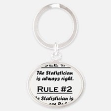 Rule Statistician Oval Keychain