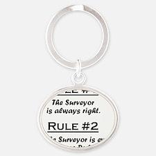Rule Surveyor Oval Keychain