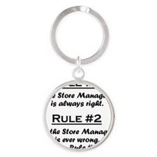 Rule Store Manager Round Keychain