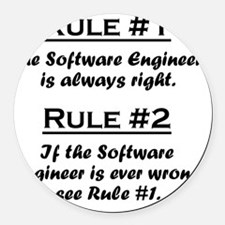 Rule Software Engineer Round Car Magnet
