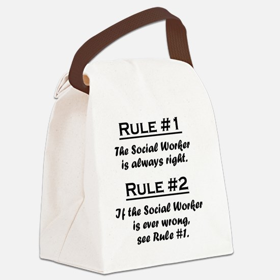 Rule Social Worker Canvas Lunch Bag