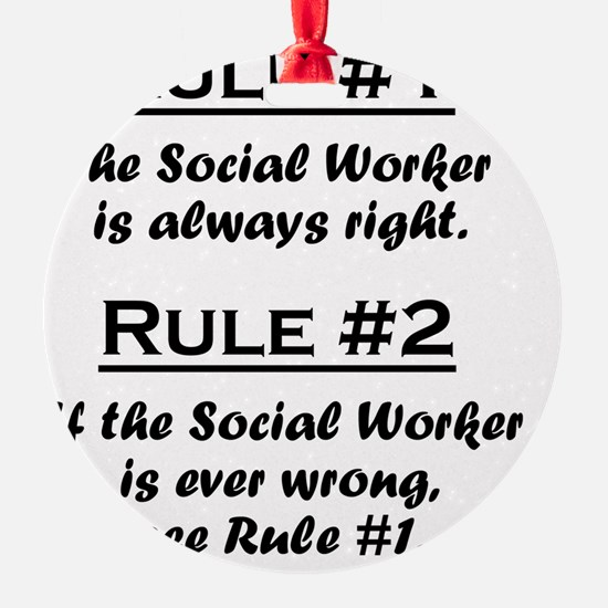 Rule Social Worker Ornament