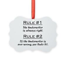 Rule Underwriter Ornament