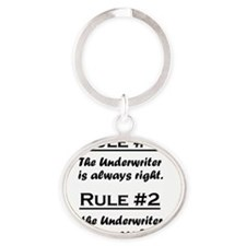 Rule Underwriter Oval Keychain