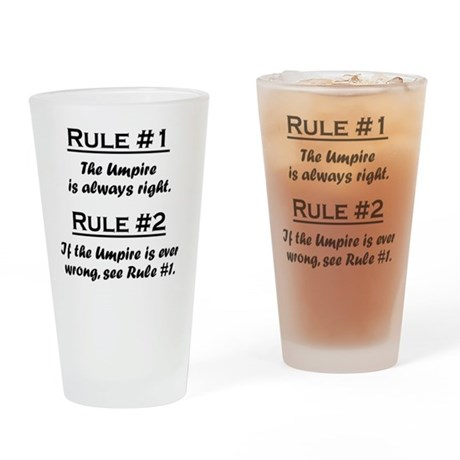 Rule Umpire Drinking Glass