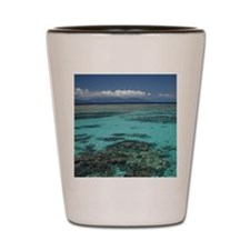Snorkelers and Reef, Green Island, Grea Shot Glass