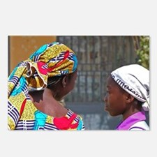 African young girls with  Postcards (Package of 8)