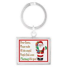 Pharmacy Dear Santa Cards Landscape Keychain
